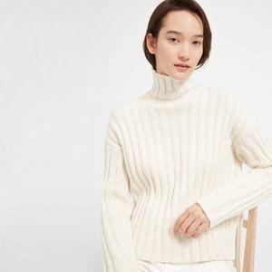 everlane wool-cashmere rib sweater